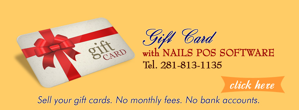 Nails POS Software Gift Card